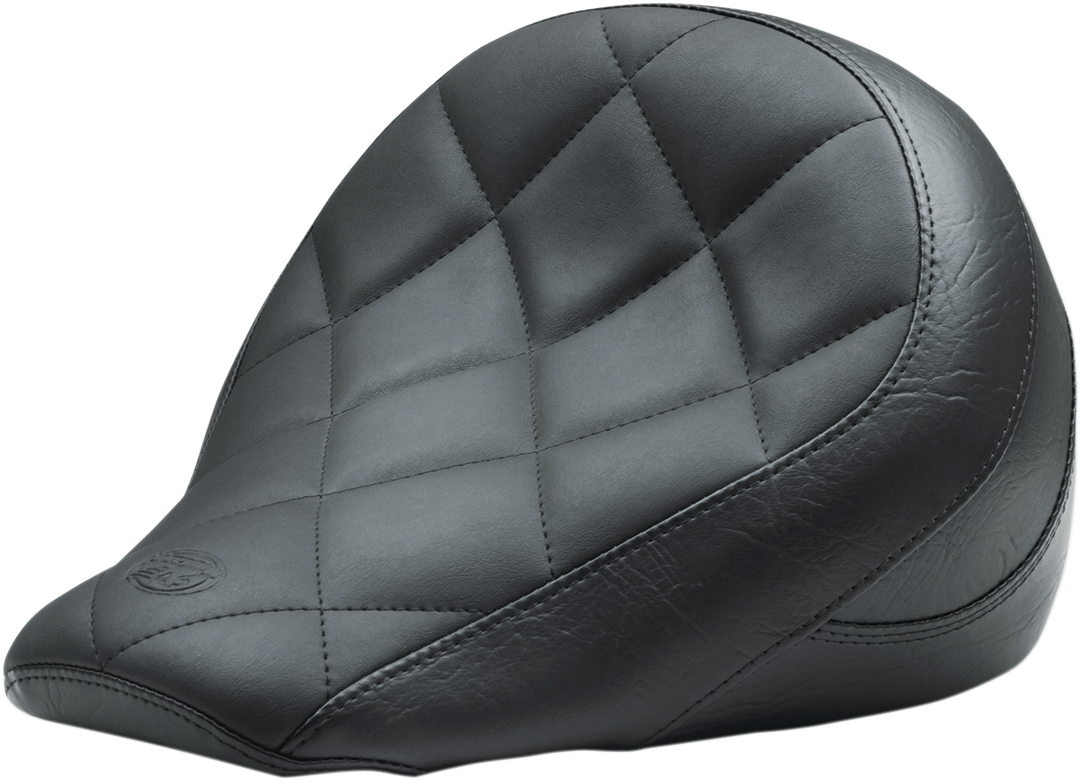 """Mustang Black Vinyl 13"""" Diamond Solo Seat for 18-20 Indian Scout Bobber ABS"""