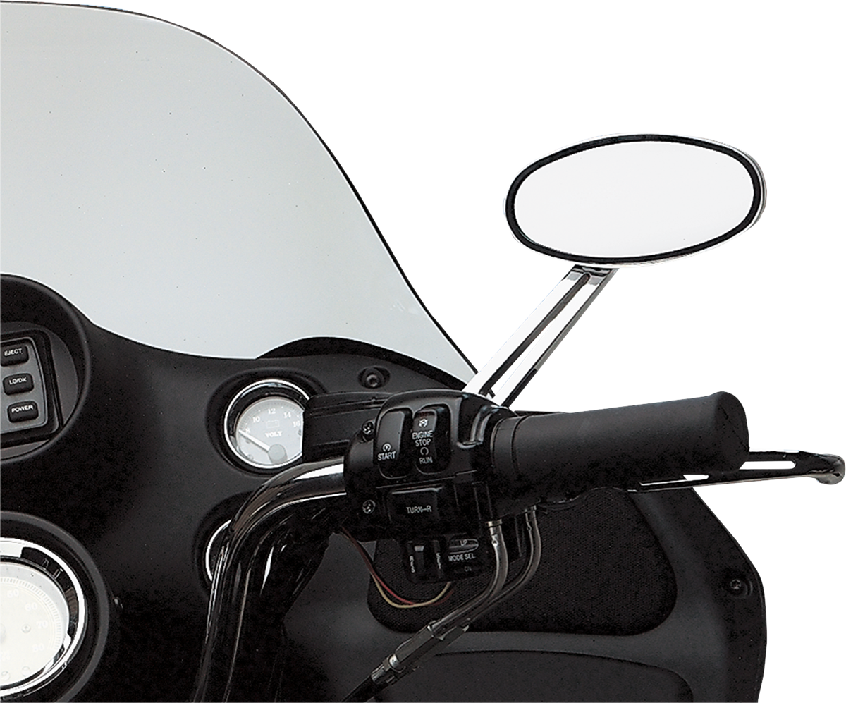 Drag Specialties Chrome LED Stealth II Right Hand Handlebar Motorcycle Mirror