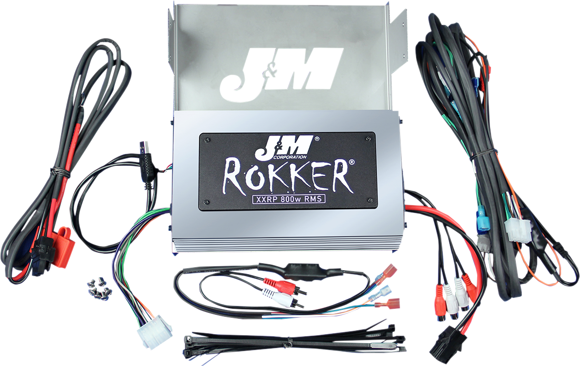 J&M 800W 4 Channel Motorcycle Amplifier Kit 06-13 Harley Touring FLHTK FLHTCU