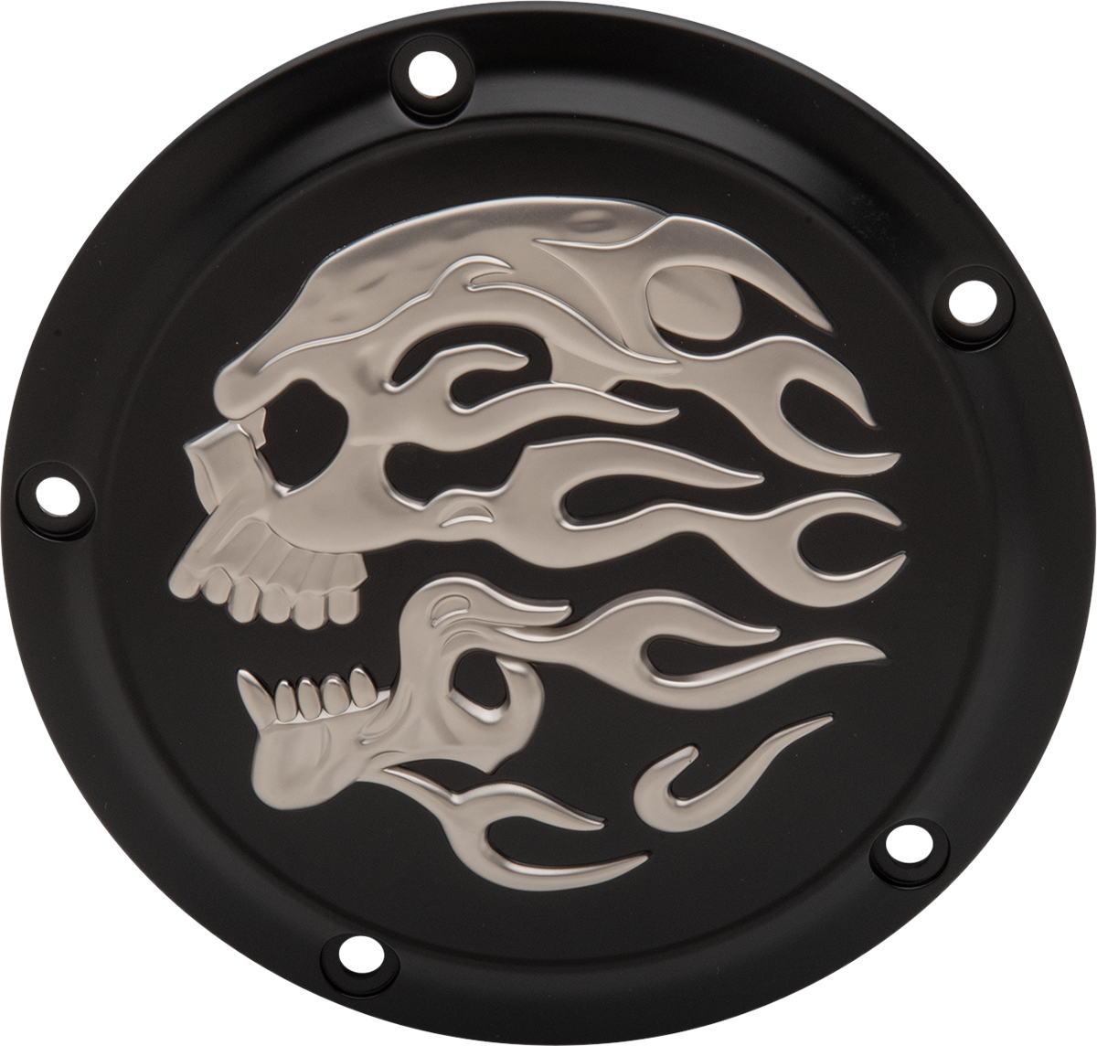 Drag Specialties Flame Skull Derby Cover 00-17 Harley Dyna Touring Softail FLHX