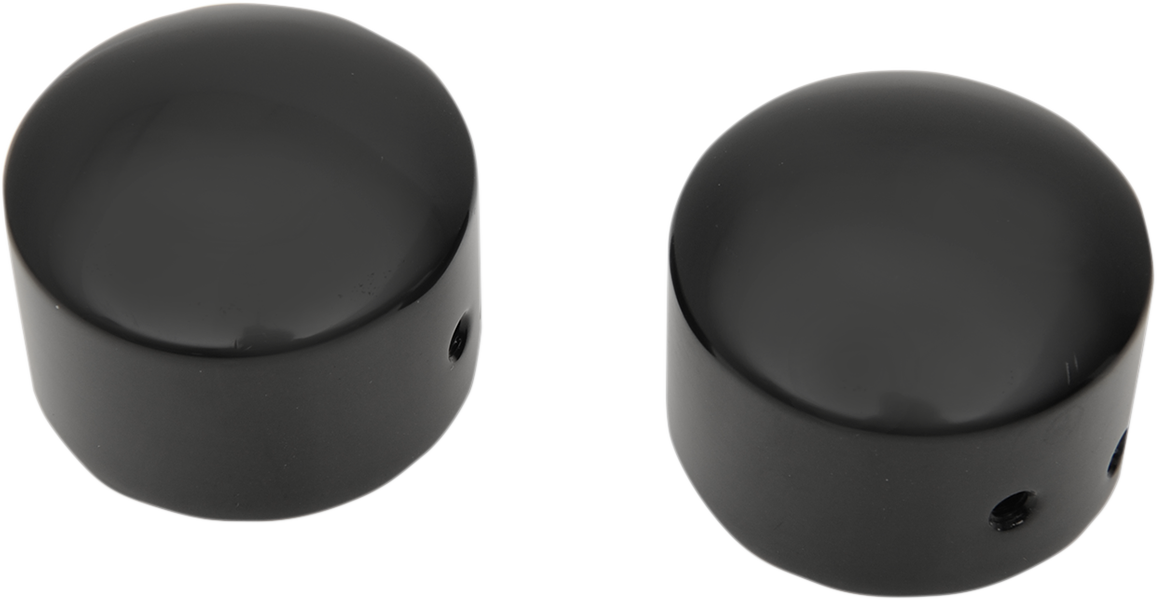 Drag Specialties Gloss Black Front Axle Caps for 08-18 Harley Touring FLHT FLHX