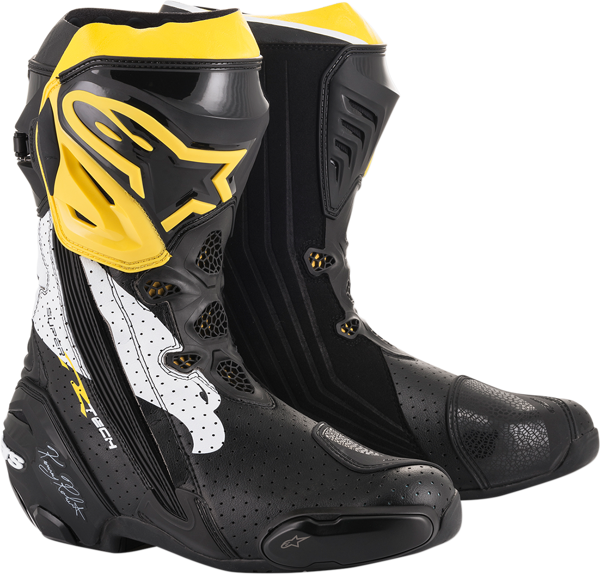 Alpinestars Limited Edition Kenny Roberts SR Supertech R Motorcycle Racing Boots