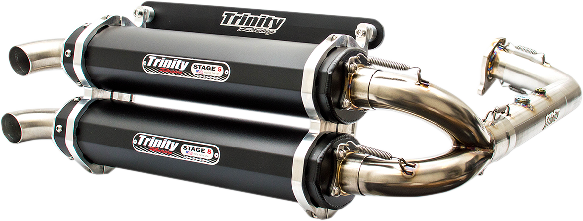 Trinity Racing 1-2 Stage 5 UTV Exhaust for 16-18 Polaris RZR XP Turbo 1000 ESP