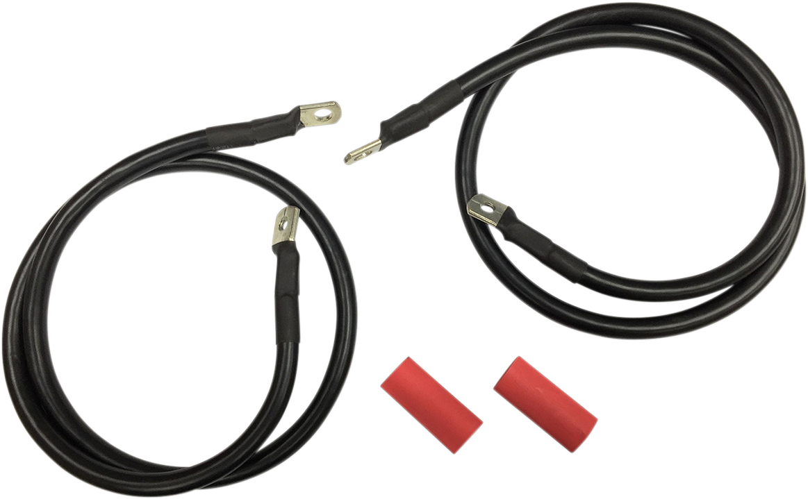 Drag Specialties Black Battery Cable Kit for 89-92 Harley Touring FLHT FLT