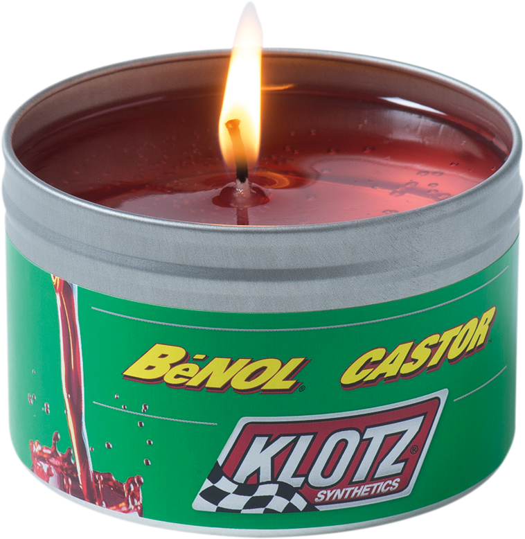 Klotz Oil The Smell of Benol Castor Scented 8oz Off Road Motorcycle Candle