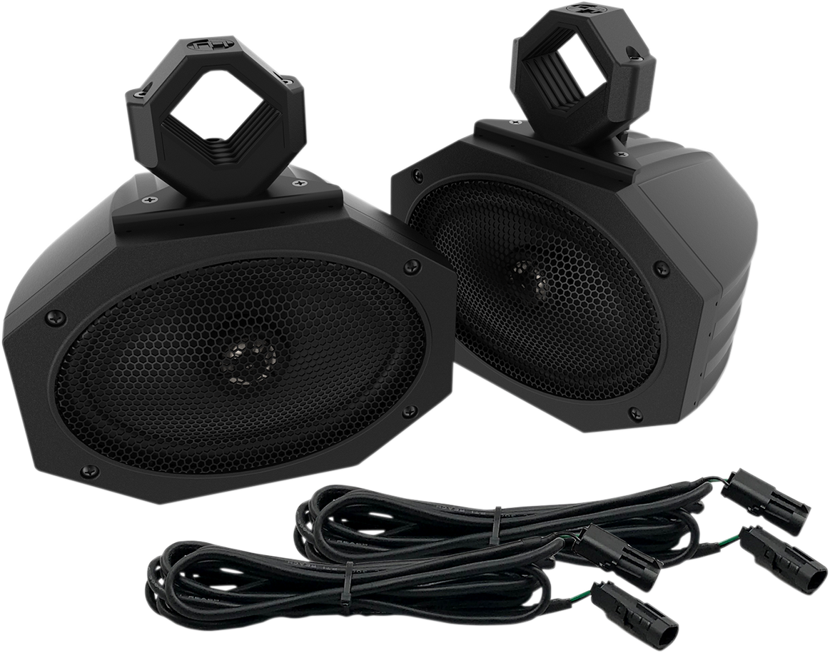 Metrix Black Universal Offroad ATV UTV Side by Side Element Speaker Kit