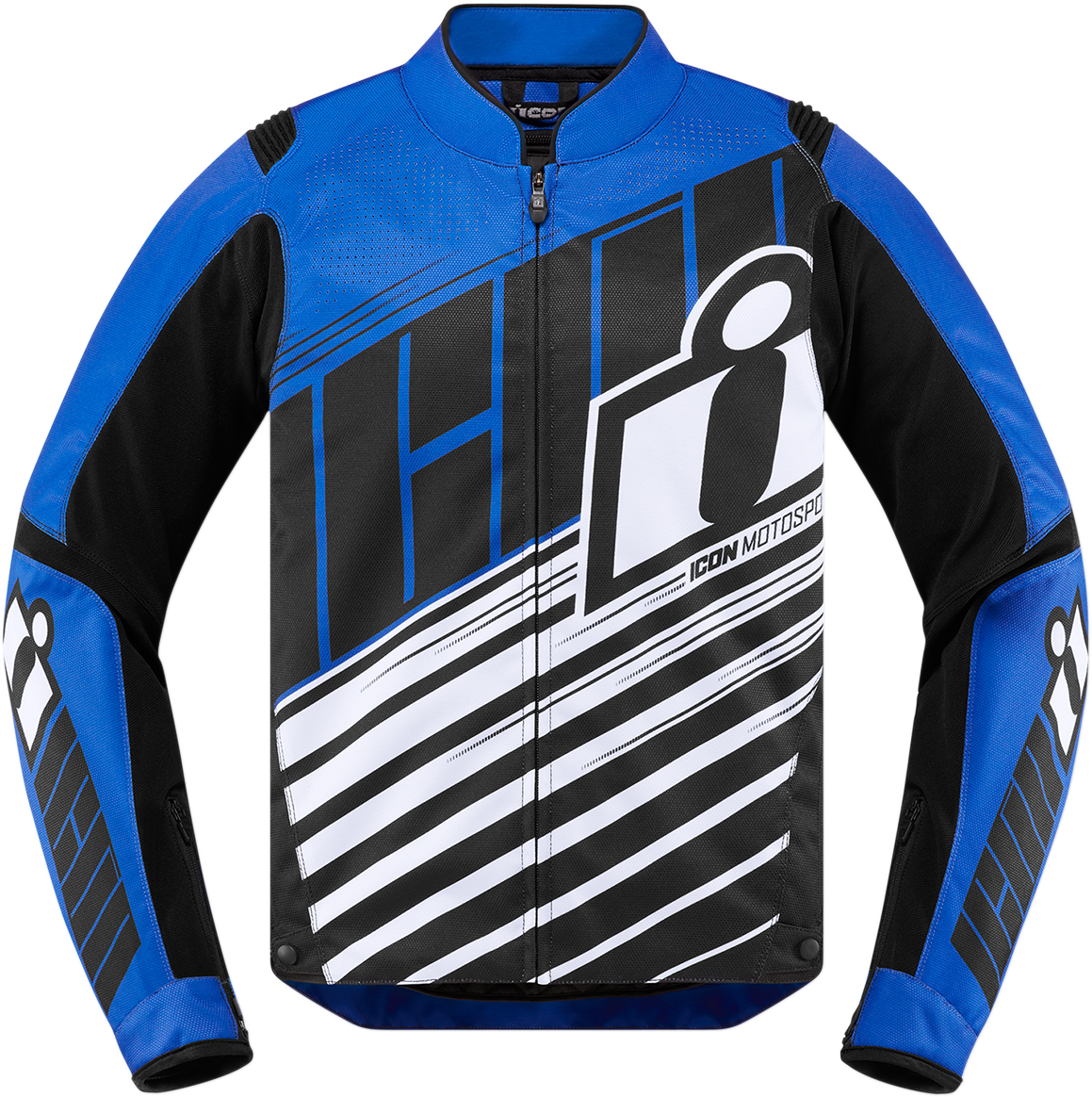 Icon Blue Overlord SB2 Textile Motorcycle Riding Street Racing Armored Jacket