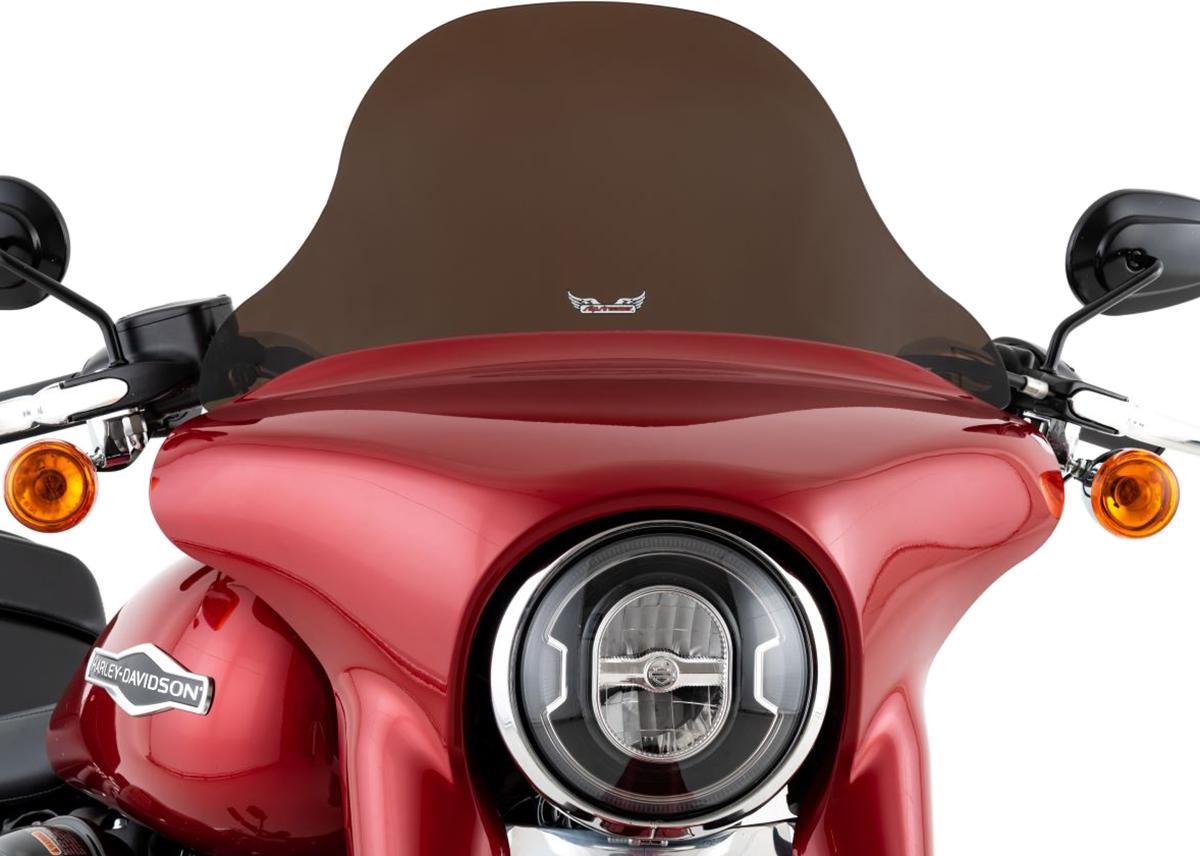 "Slipstreamer 8"" Dark Smoke Motorcycle Fairing Windshield 18-20 Harley Softail"