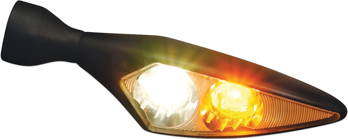 Kuryakyn 2543 Black Amber Red LED Smoke Lens Left Rear Turn Signal for Harley