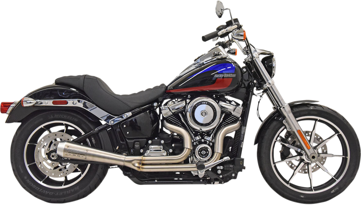 Bassani 2-1 Road Rage 3 Stainless Steel Exhaust for 18-19 Harley Softail FXLR