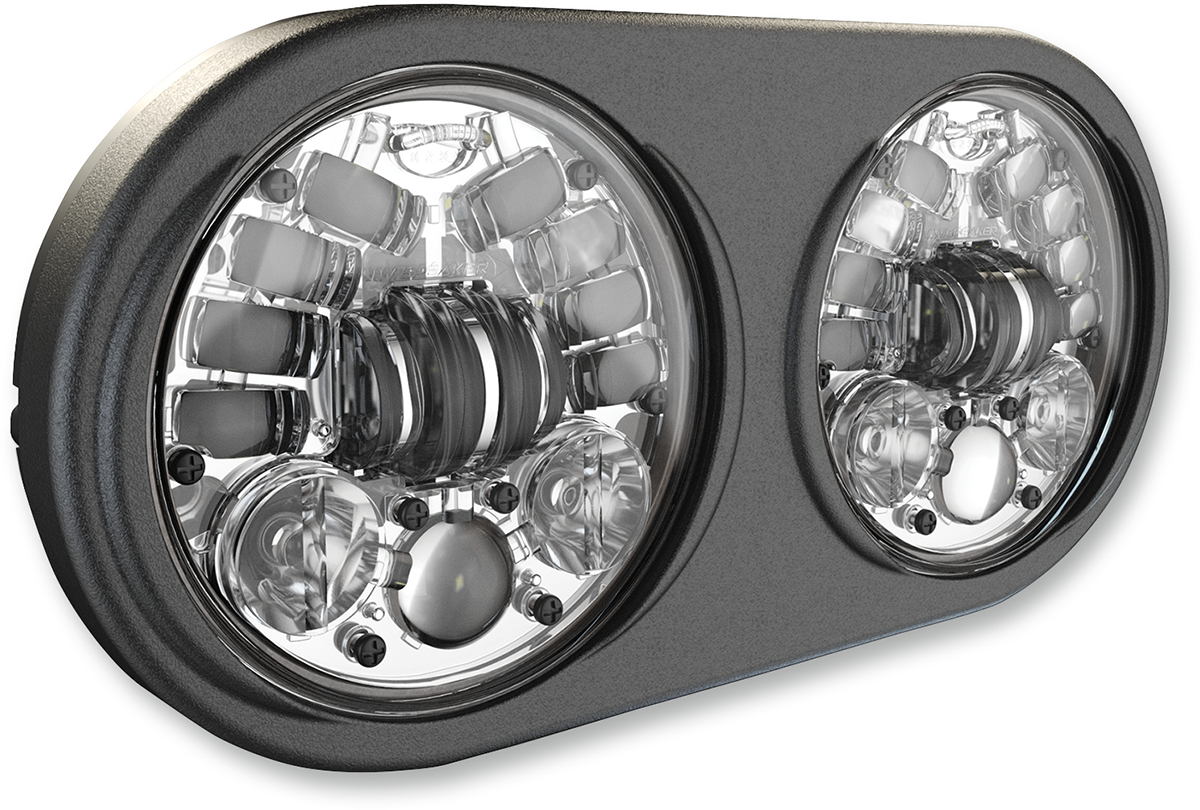 J.W Speaker 5 3/4 Chrome Adaptive LED Headlight for 98-13 Harley Road Glide FLTR