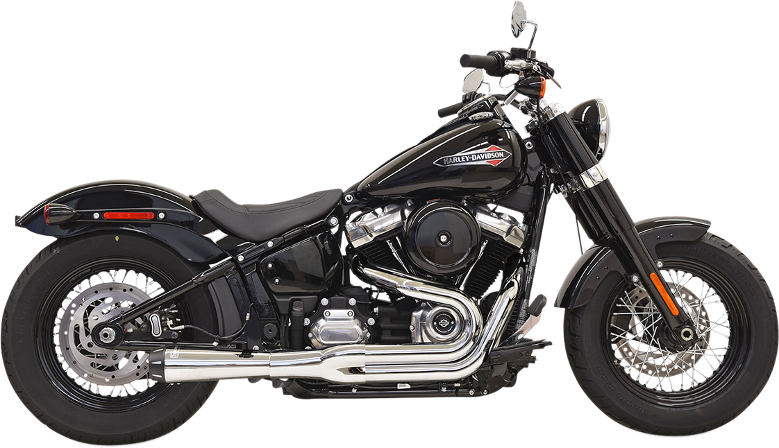 Bassani 2-1 Chrome Road Rage Megaphone Exhaust for 18-19 Harley Dyna FXFB FXLR