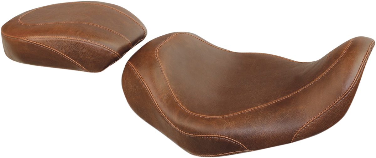 Mustang Tripper Brown Motorcycle Solo Seat 06-17 Harley Dyna FXDF FXDB FXDL FLD
