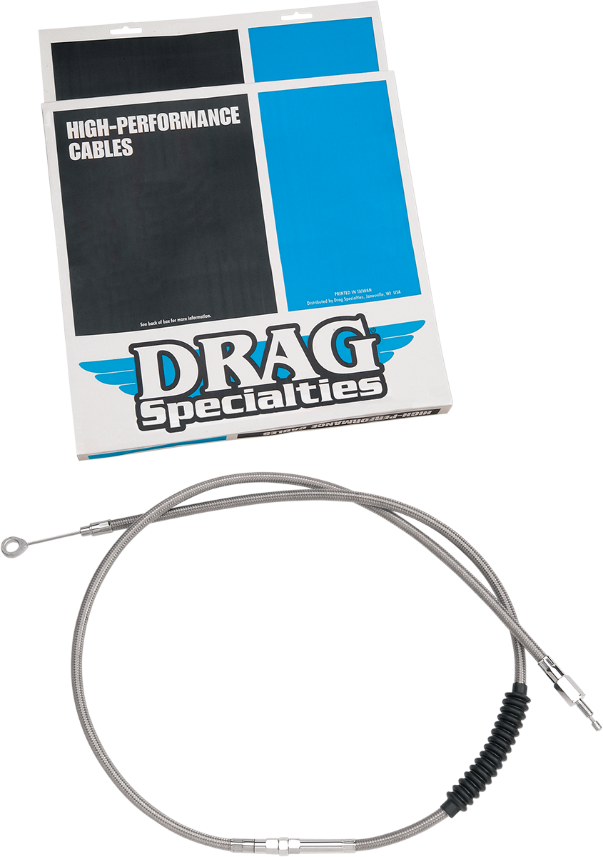 "Drag Specialties Braided 68 11/16"" Clutch Cable for 92-05 Harley Dyna FXDWG FXDL"
