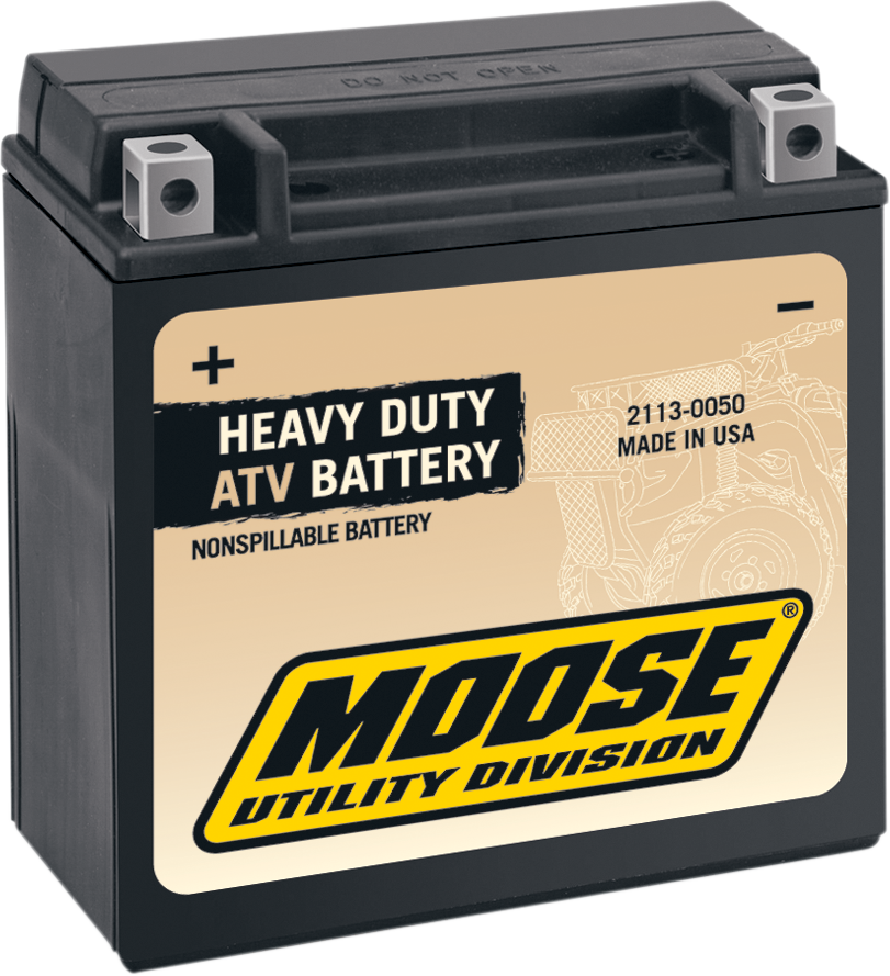 Moose Heavy Duty YTX14 Maintenance Free Battery for 86-13 Honda Suzuki