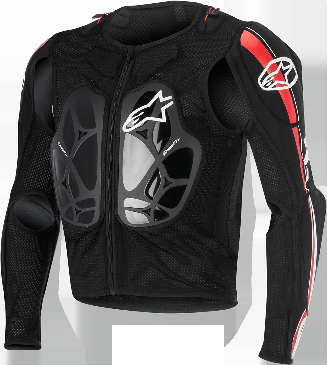 Alpinestars Black Red White Unisex Textile Bionic Pro Off road Dirt Bike Jacket