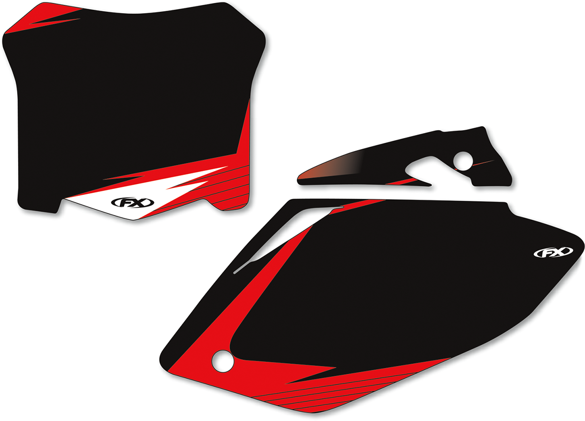 Factory Effex Pair Black Vinyl Off road Number Plates for 2008 Honda CRF450R