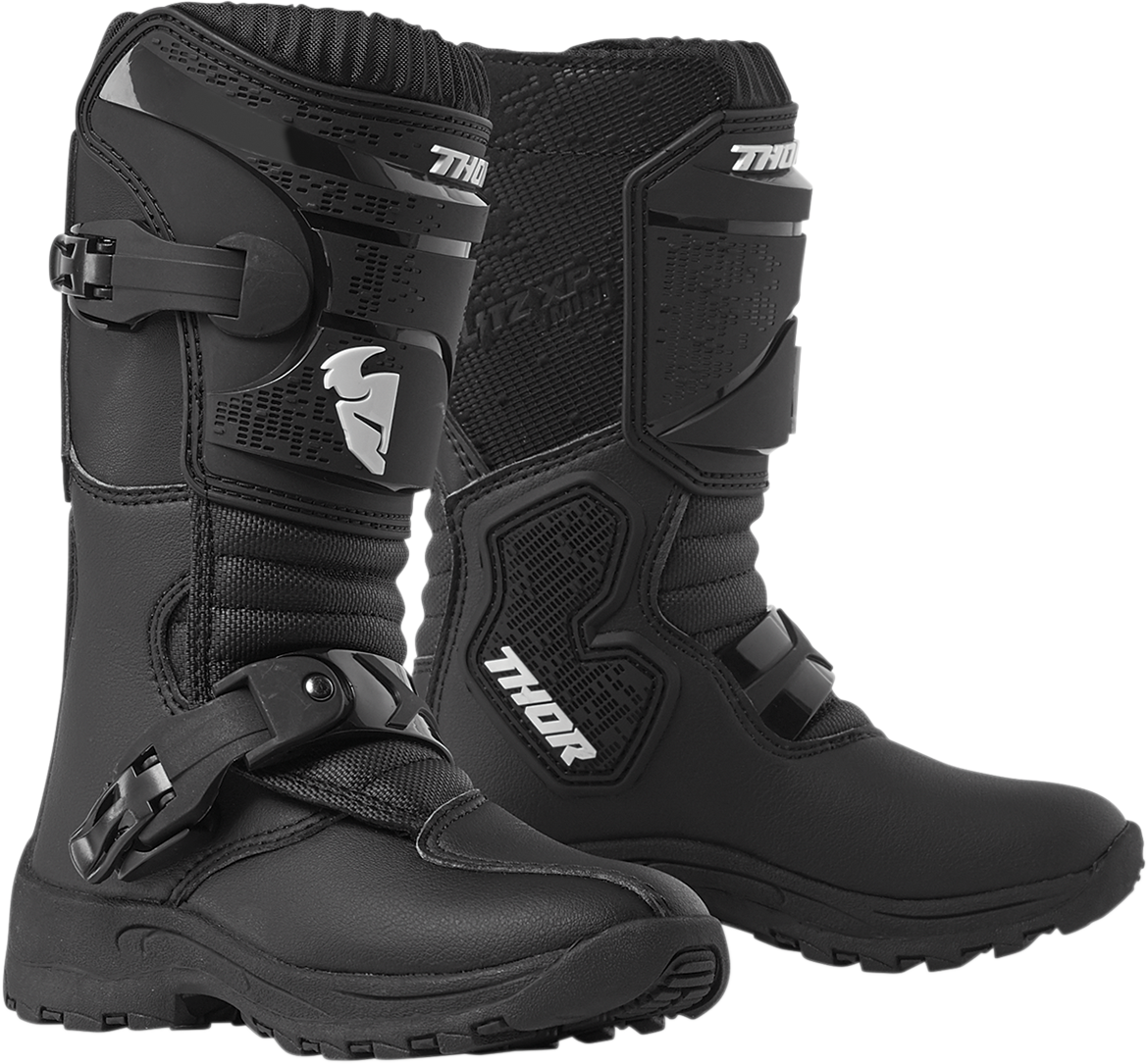 Thor Kids Youth Black Mini Biltz XP Offroad Riding Dirtbike Racing Boots