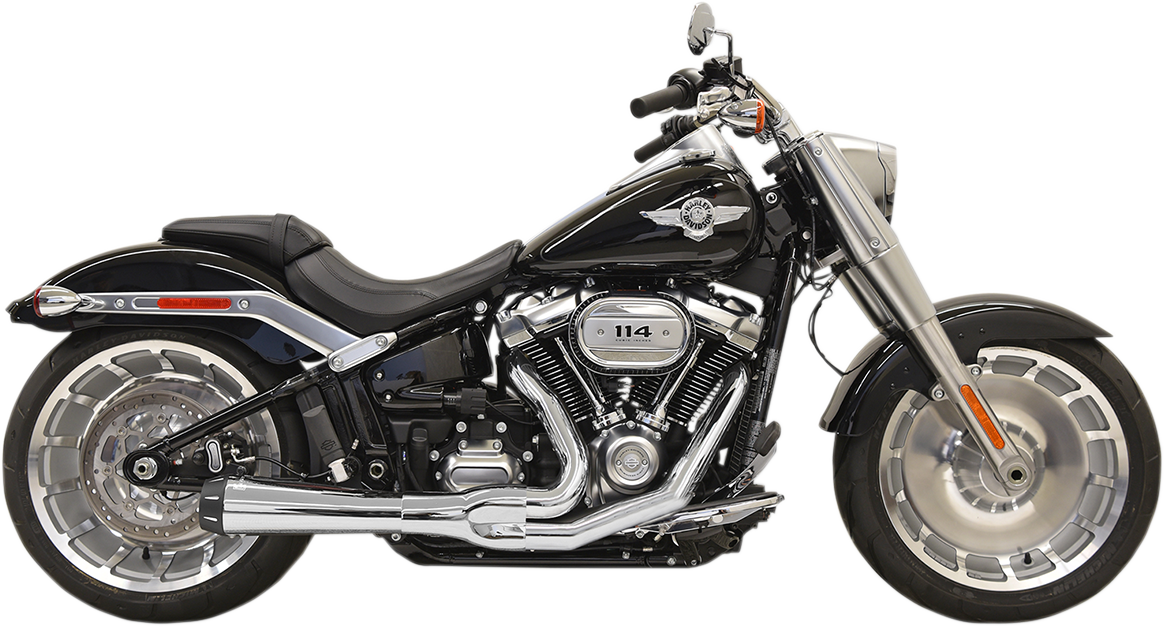 Bassani 2-1 Chrome Road Rage Exhaust for 18-19 Harley FLFB FXBR FXDRS