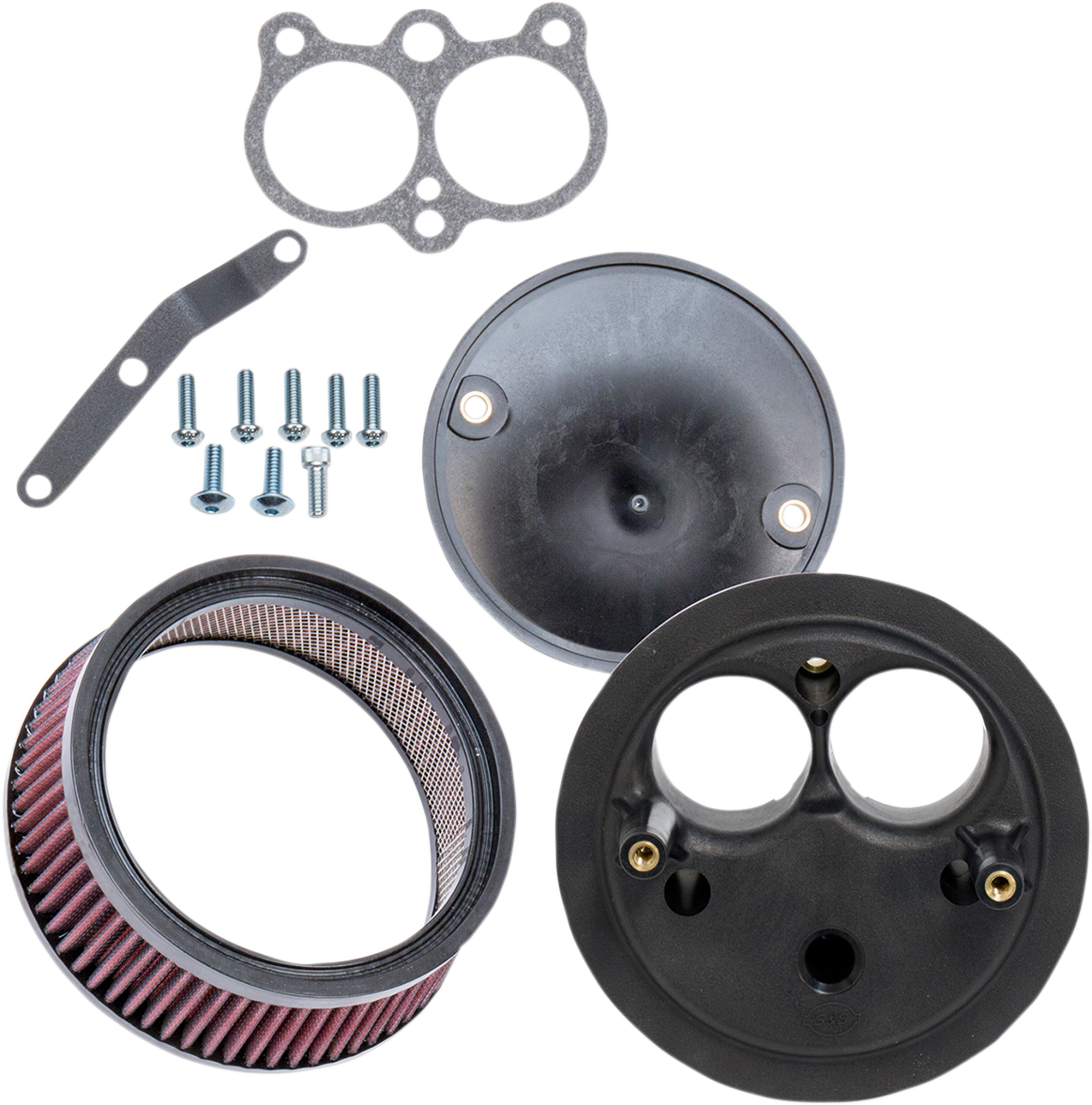 S&S Cycle Black Stealth Air Cleaner Kit for 17-18 Harley Davidson Street Rod XG