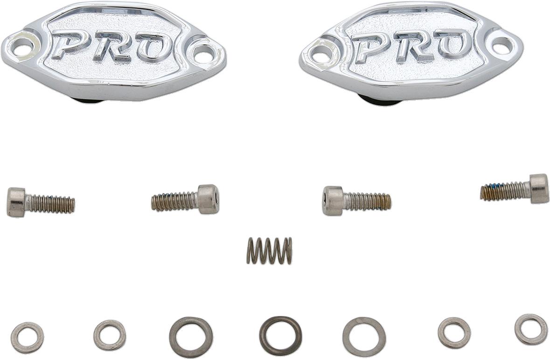 Kuryakyn 9332 Hypercharger Air Filter Chrome Pro Series Butterfly Shaft Caps