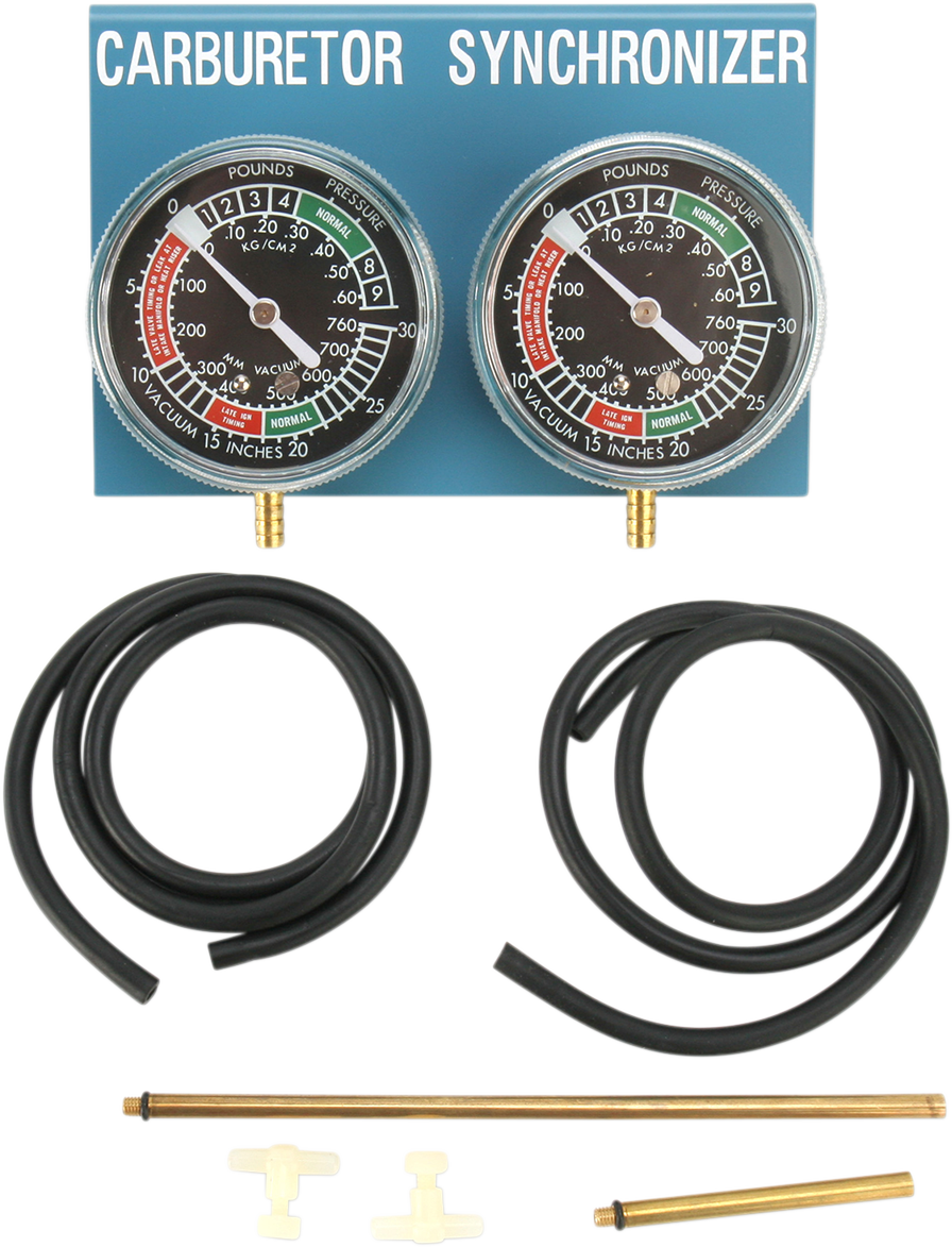 Parts Unlimited Vacuum Gauges 2 Carburetor Synchronizers Motorcycle Tool Kit