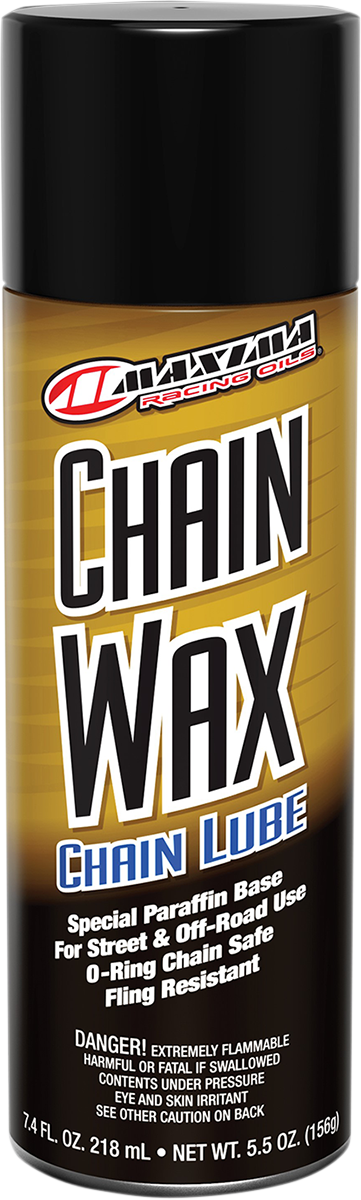 Maxima 6oz Aerosol Spray Can Motorcycle Offroad Chain Wax Mineral Lubricant