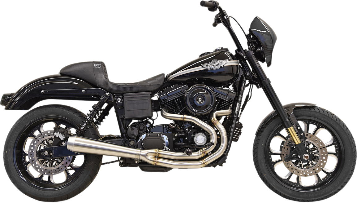 Bassani 2-1 Road Rage Megaphone Exhaust for 91-17 Harley Dyna FXDL FXDC FXDWG