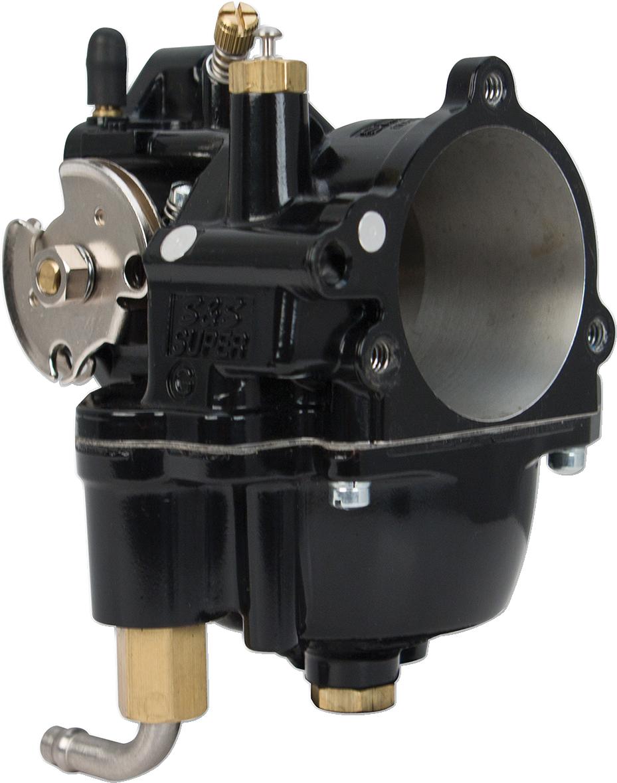 S&S Black Super G Motorcycle Carburetor for 36-06 Harley Big Twin Sportster XL