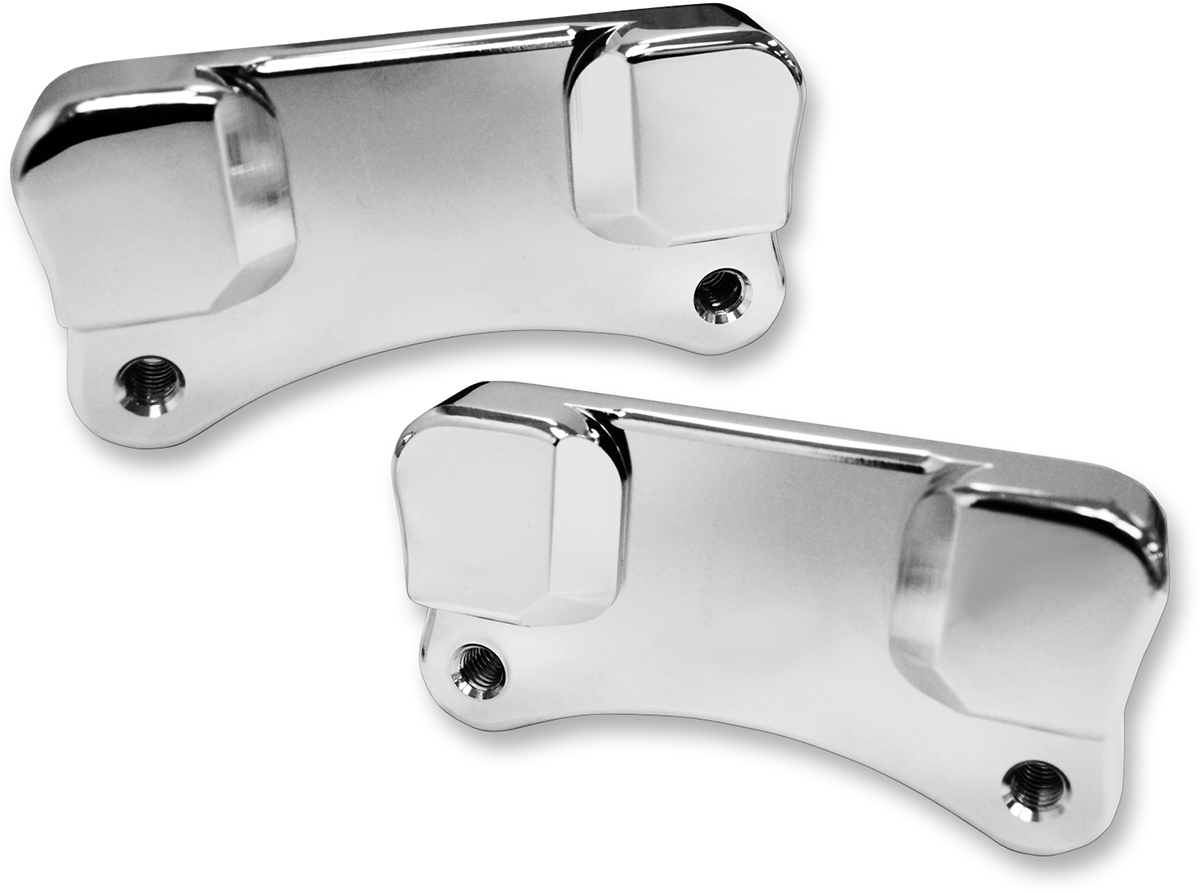 Drag Specialties Chrome Front Fender Adapters 14-19 Harley Touring FLHR FLHX