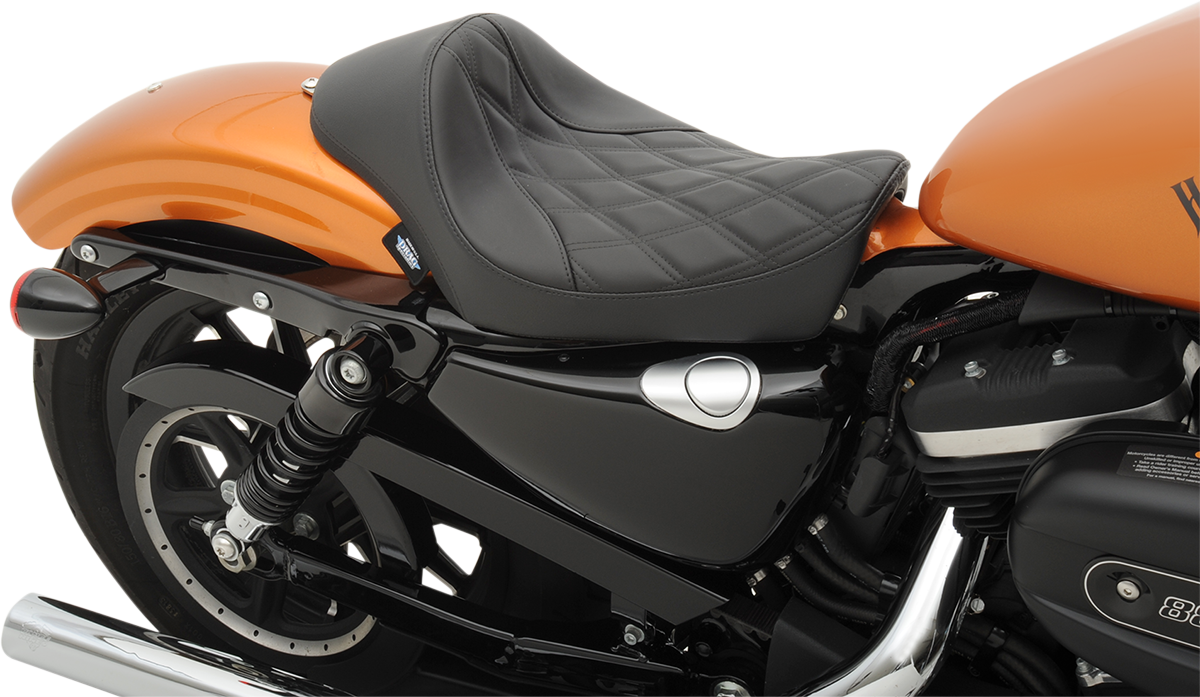Drag Specialties Diamond Motorcycle Solo Seat 10-17 Harley Sportster XLCX XLT
