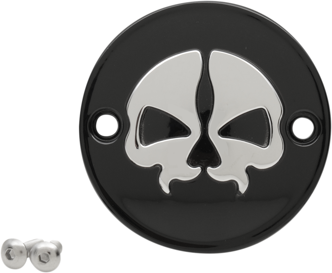 Drag Specialties Black Chrome Split Skull Points Cover for 17-19 Harley M-8