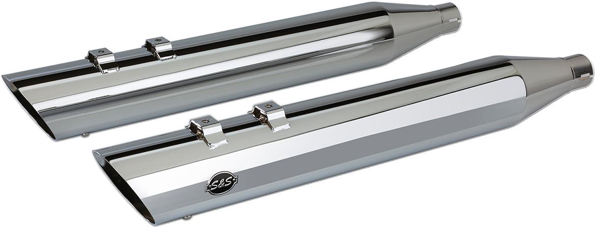 S&S Power Tune Chrome Exhaust Slip on Mufflers for 95-16 Harley Touring FLHX