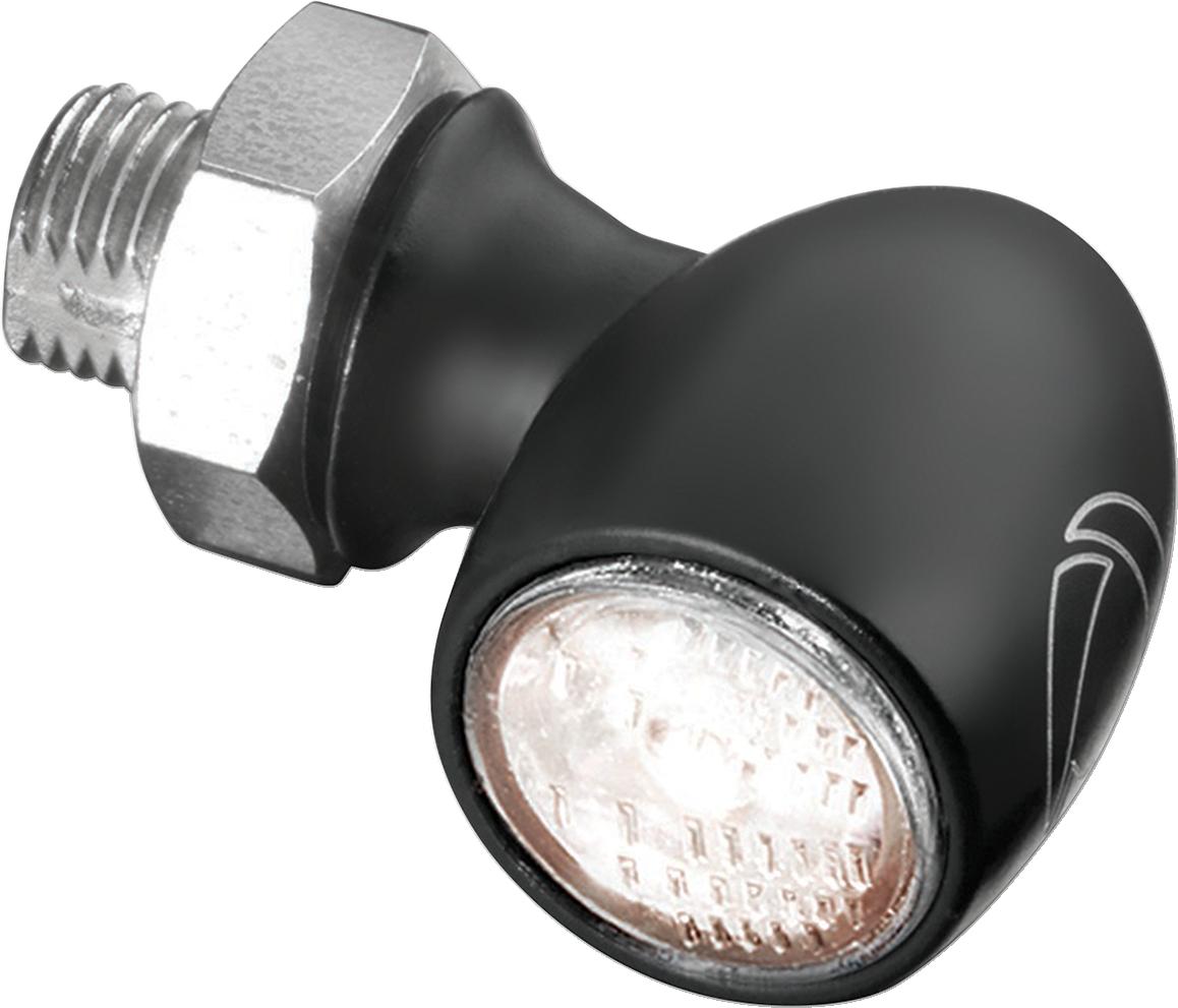 Kuryakyn 2525 Mini Black Single Kellermann Atto White LED Front Turn Signal