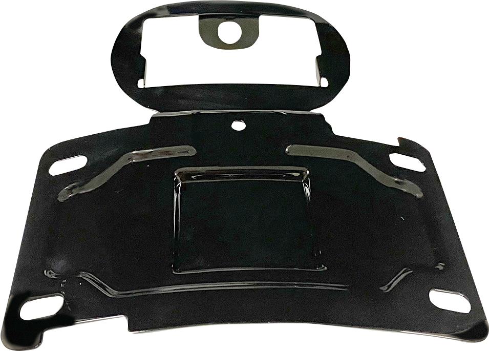 Custom Dynamics Black license Plate Relocation Mount 14-20 Harley Touring FLHTK