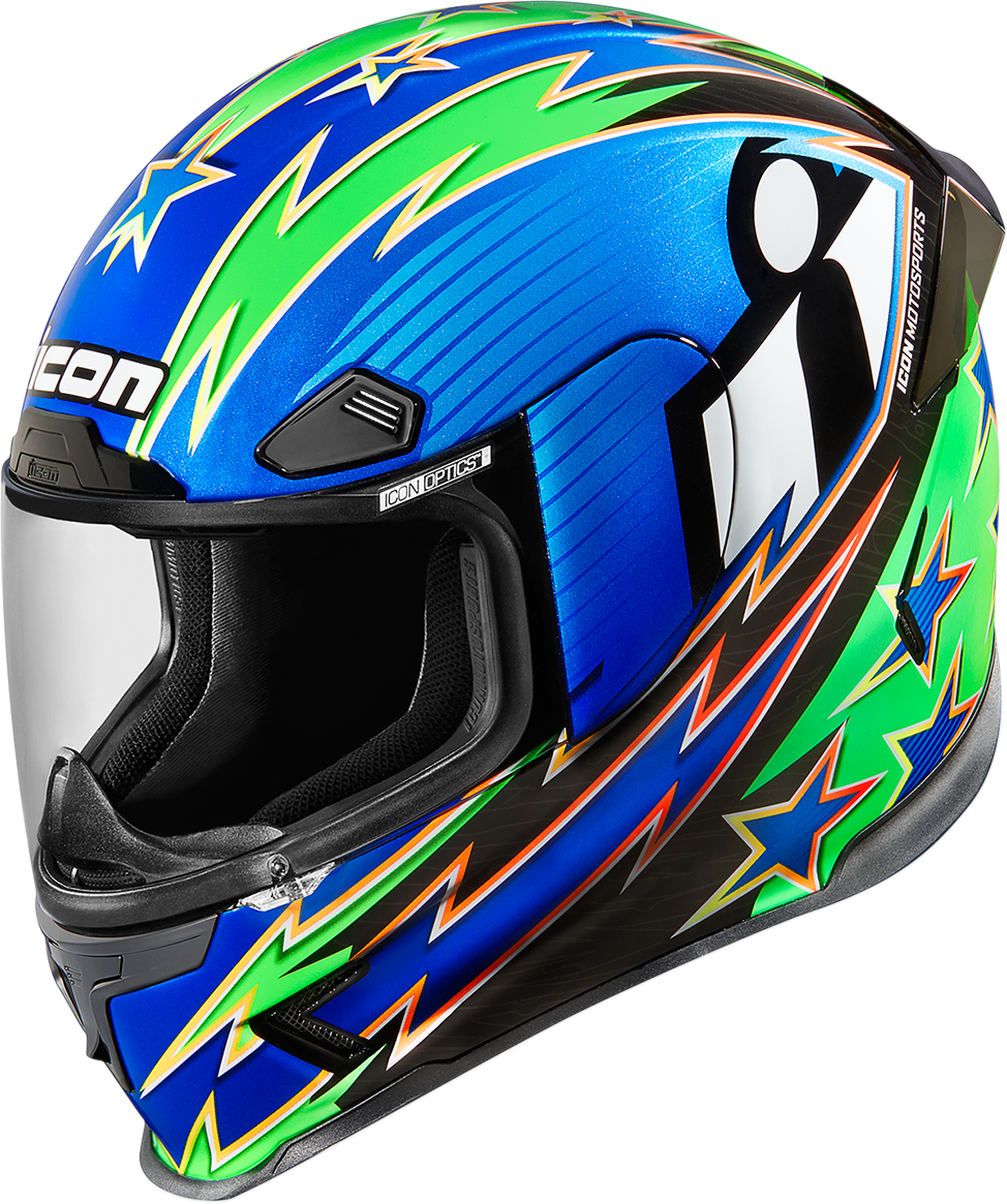 Icon Airframe Pro Warbird Adult Motorcycle Riding Street Racing Full Face Helmet