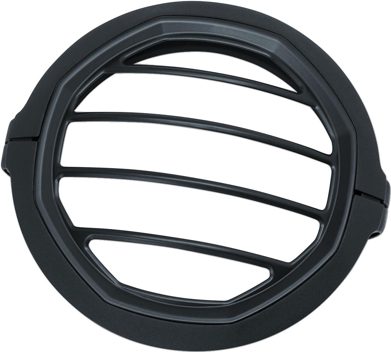 "Kuryakyn 6687 5 3/4"" Black Dillinger Headlight Trim Ring for 99-19 Harley XL"