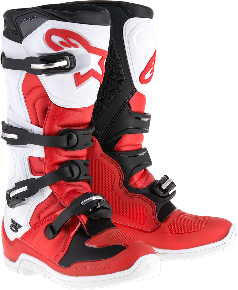 Mens Alpinestars Red White Black Tech 5 Off road Riding Dirt Bike Racing Boots