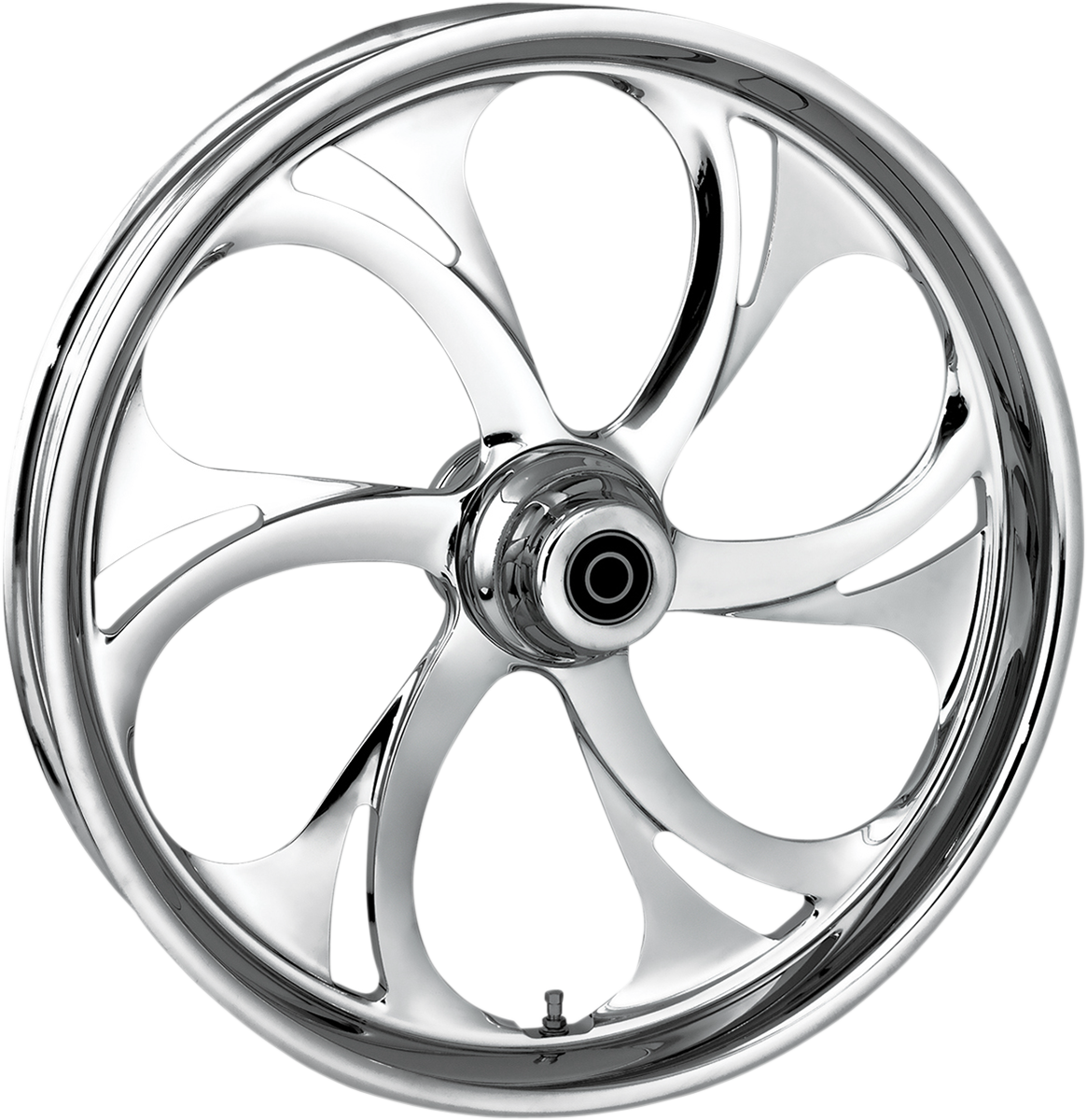 """RC Components Recoil Dual Disc 23"""" ABS Front Wheel 08-17 Harley Touring FLHR"""