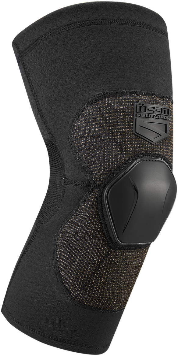 Icon Unisex Black D30 Field Armor Knee Compression Motorcycle Riding Guards