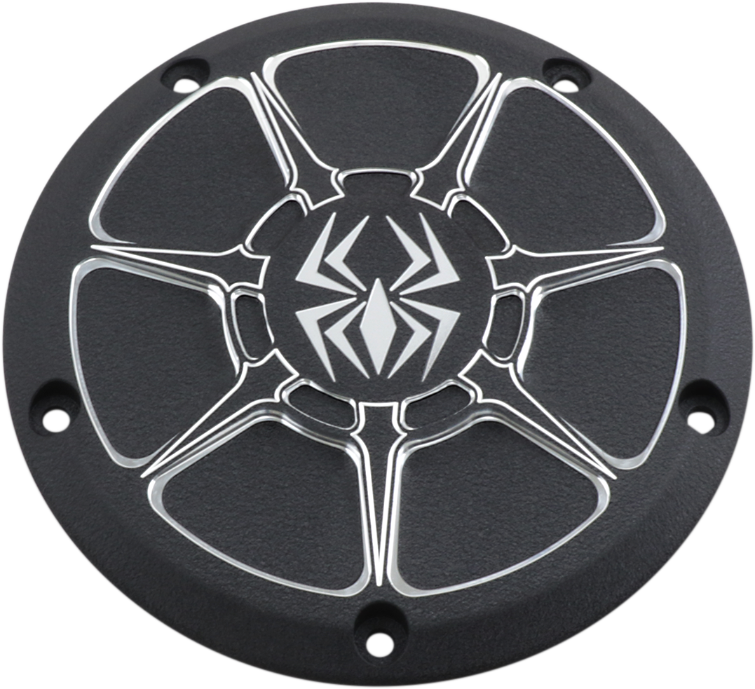 Rekluse Wrinkle Black 5 Hole Derby Cover for 16-19 Harley Touring FLHX FLHR