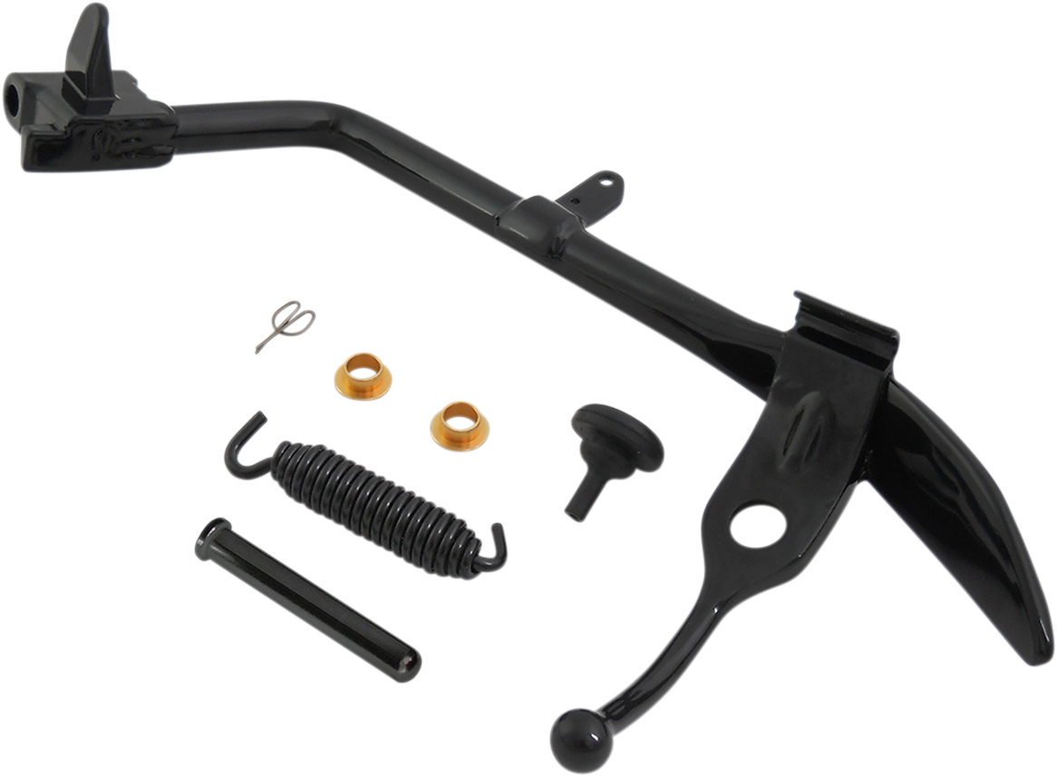 Drag Specialties Black Complete Kickstand Kit for 07-17 Harley Softail FXS FXST